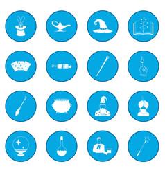 magic icon blue vector image
