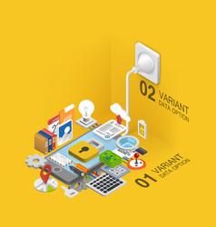 mobile development icons set vector image vector image