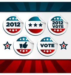 patriotic voting stickers vector image vector image