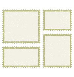 post stamp icon set vector image vector image
