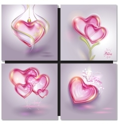 shiny bubble heart vector image