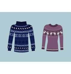 Winter Warm Sweater Handmade Svitshot Jumper vector image