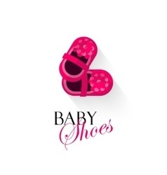Baby shoes logo isolated on vector