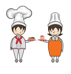 chef bakery vector image
