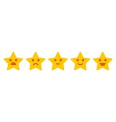Customer feedback Iconic of satisfaction level vector image