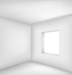 Empty white room vector image vector image