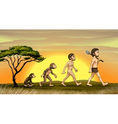 evolution of man vector image
