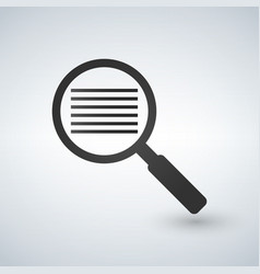 search document pictogram style is a flat iconic vector image
