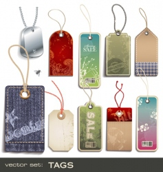 swing tags vector image vector image