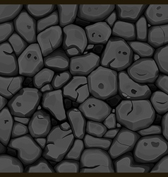 Black stone seamless background vector image