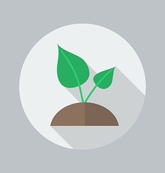 Eco Flat Icon Plant vector image vector image