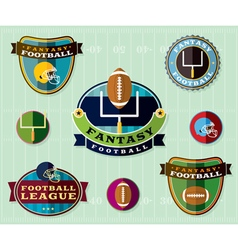 Fantasy Football Set of Icons and Badges vector image vector image