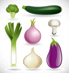 Mixed vegetables - set 2 of 2 vector