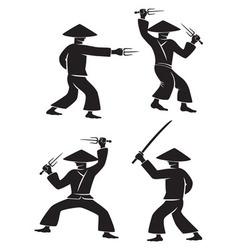samurai sword vector image