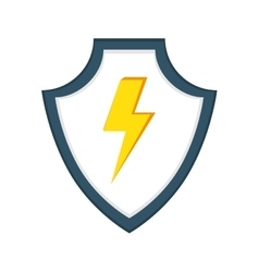 shield security guard isolated icon vector image