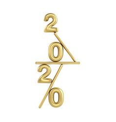2020 happy new year gold 3d sing numbers vector image