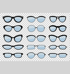 A set of glasses isolated glasses model vector