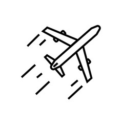 Aeroplane icon vector