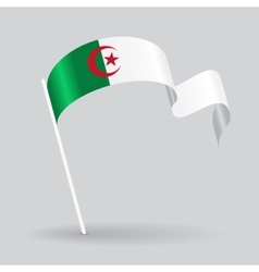 Algerian wavy flag vector
