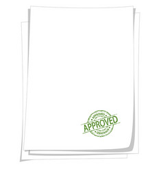approved stamp on blank paper vector image