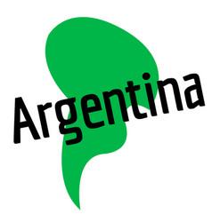 Argentina sticker stamp vector