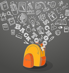 Back to school concept falling icons to the school vector