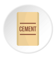 bag of cement icon circle vector image