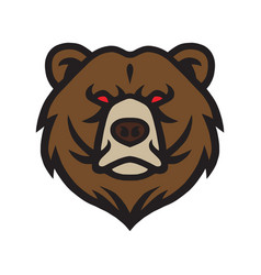 bear logo mascot icon template vector image