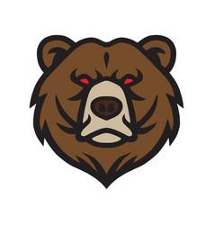 Bear logo mascot icon template vector