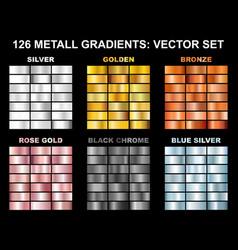 Big collection metall foil texture backg vector