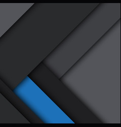 Black and blue modern material design vector