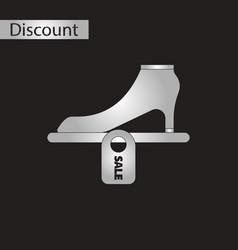 Black and white style icon shoes discounts vector