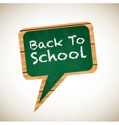 Board with a back to school announcement vector