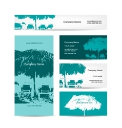 Business card design tropical resort vector image