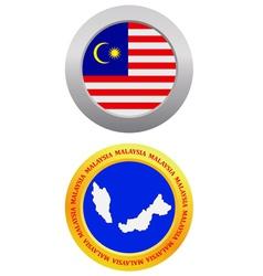 button as a symbol MALAYSIA vector image