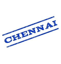 Chennai Watermark Stamp vector