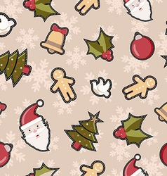 Christmas decoration patch icon pattern background vector