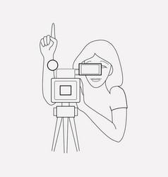 Cinematography icon line element vector