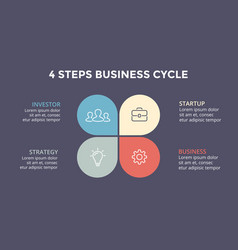 Circle arrows infographic cycle diagram vector