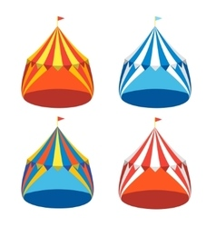 Circus Tent Set vector image