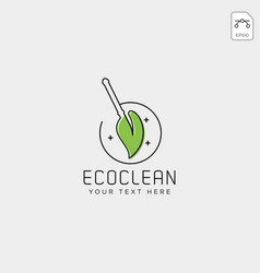 cleaning service logo template icon element vector image