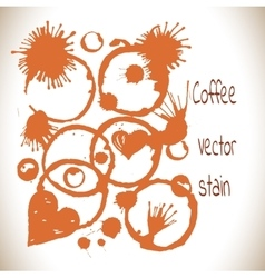 Coffee paint stains set vector