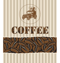 coffee with retro car vector image