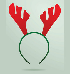 deer horn mask vector image