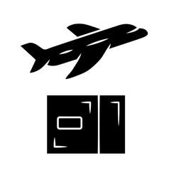Delivery plane glyph icon international cargo vector
