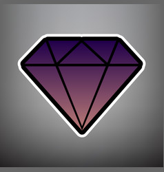 diamond sign violet gradient vector image
