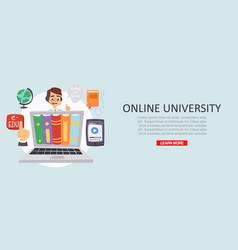 education online university or training courses vector image