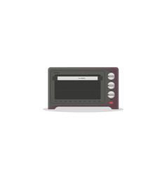 Electric oven flat style vector