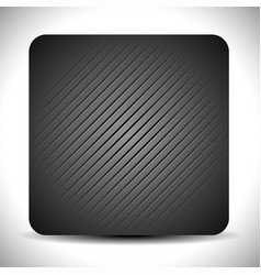Empty square plate button with slanting lines vector