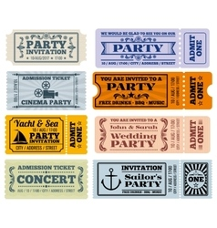 Entertainment party and cinema vintage vector
